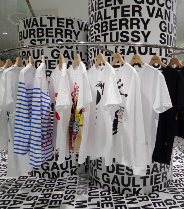 ae49a2bd52f7 Share. IMAGE Comme des Garçons. The result is a lively set of T-shirts,  pullovers, and a tote (Gucci), all ...