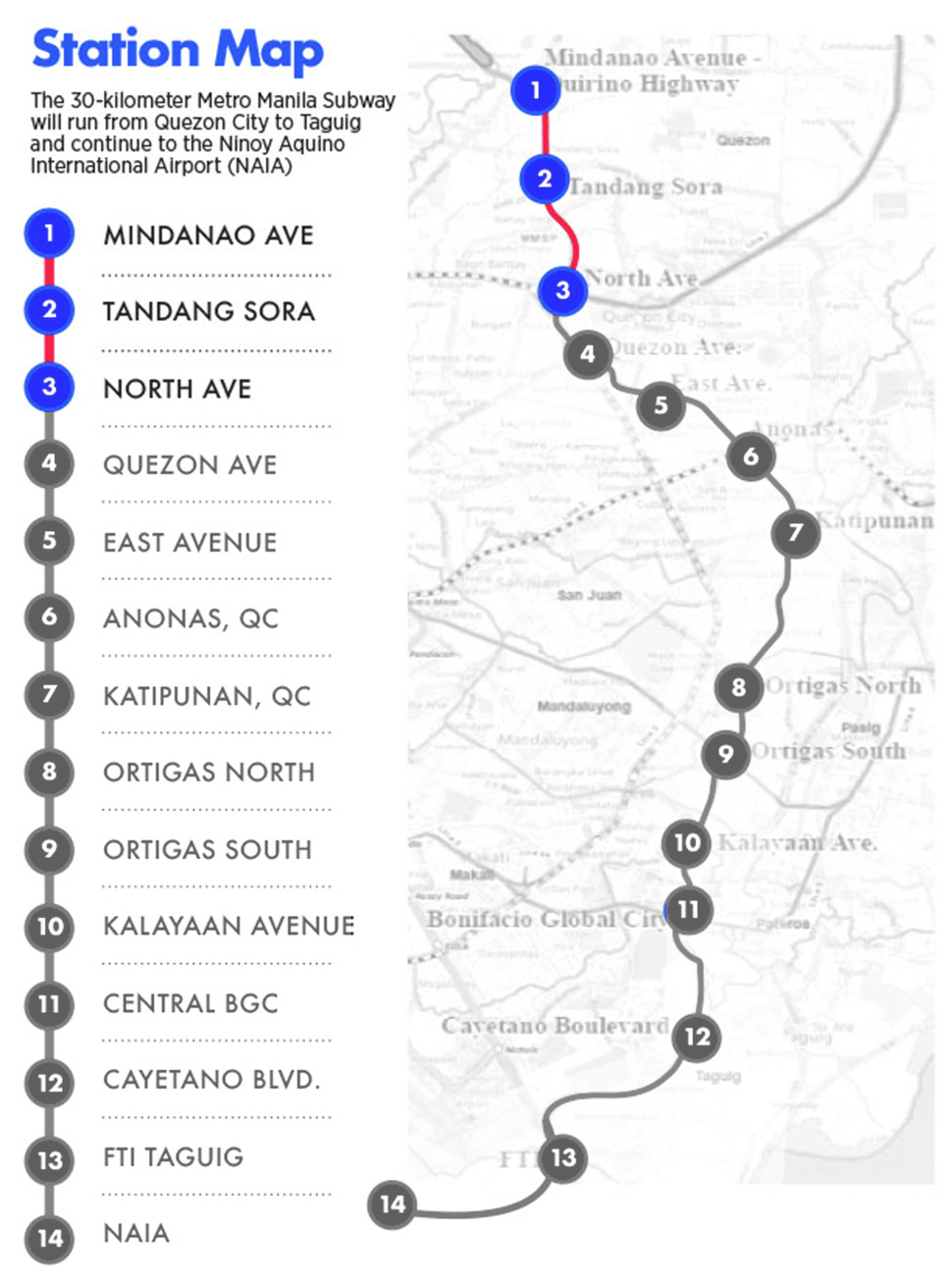Game Of Thrones Subway Map.Expect Metro Manila Subway S First Three Stations To Start Operating