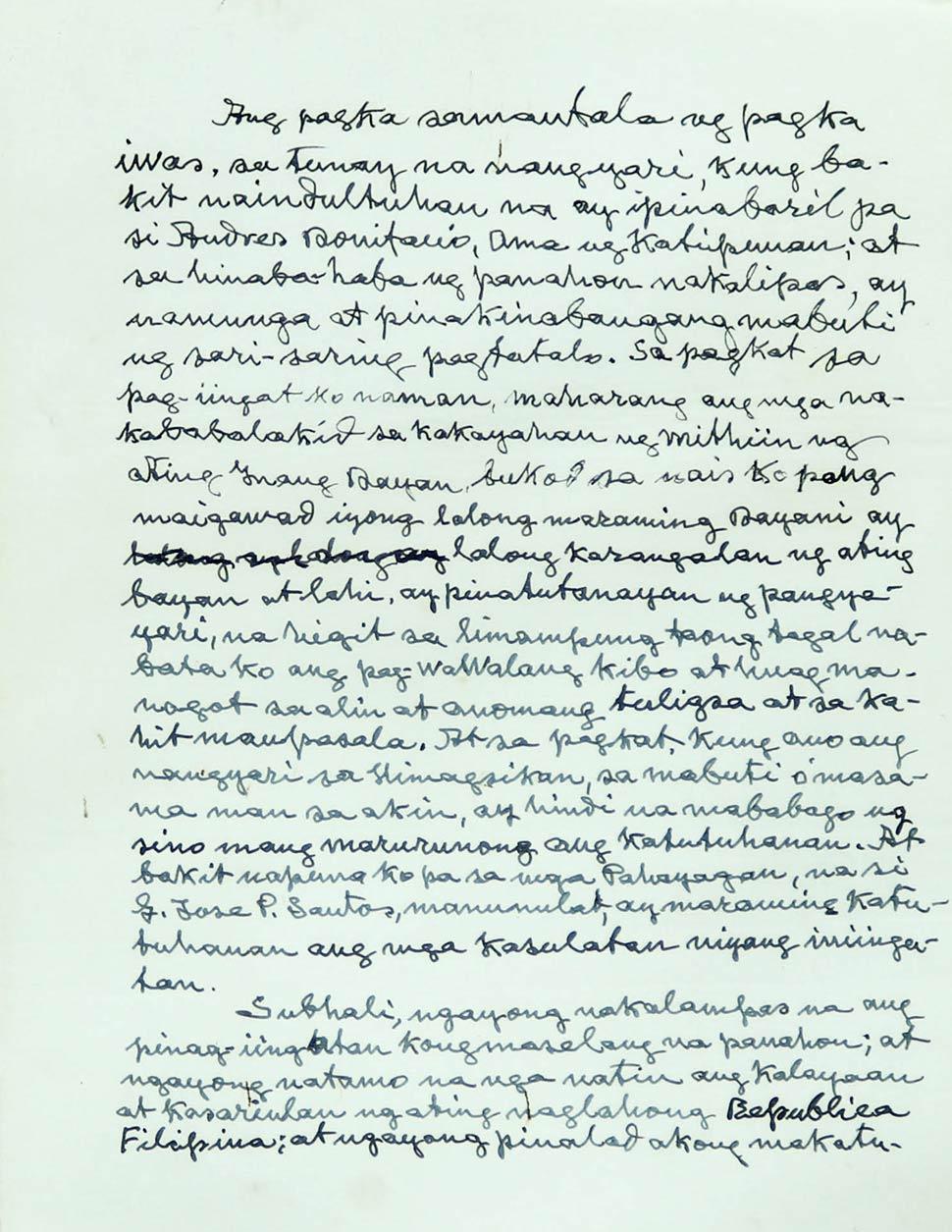 This Letter Shows Emilio Aguinaldos Admission Of His Hand In Andres Bonifacios Execution