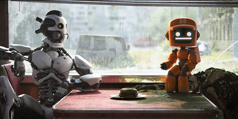 Cartoon robot sexe
