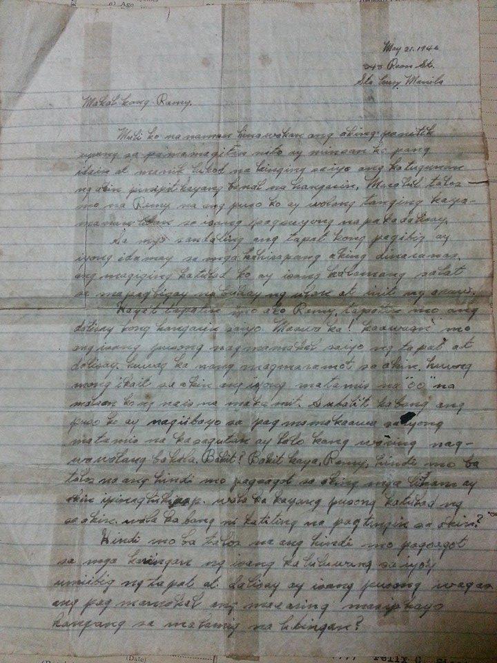 Letter sweet tagalog love Romantic Love