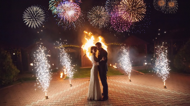 Entertain and impress your guests at the wedding reception with fireworks