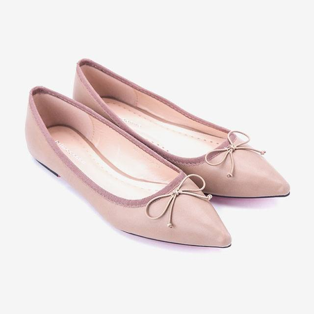 This blush shoe can also work as a nude ballet flat. Also, it has a nice  bow and a pink sole! IMAGE Zalora