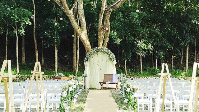 tagaytay wedding venues: angelfields nature sanctuary