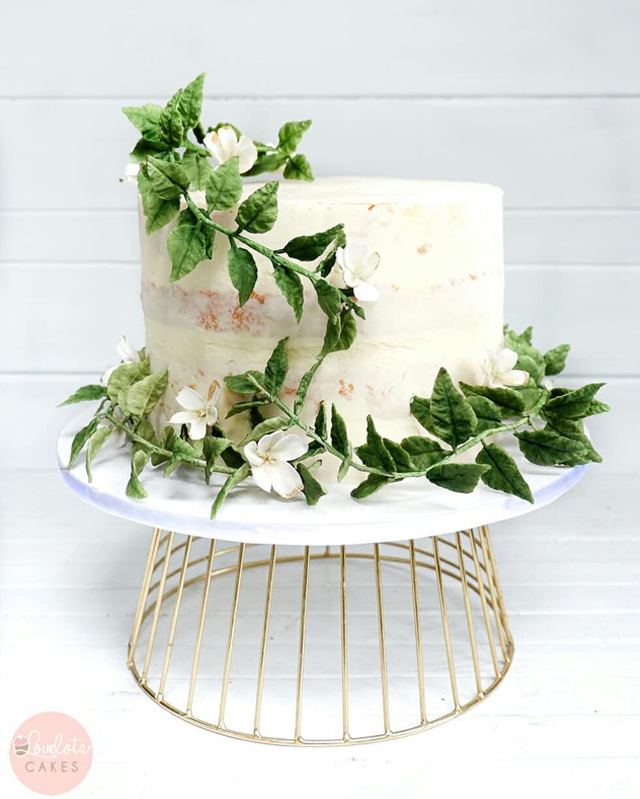 wedding cake designs: one-tiered cake