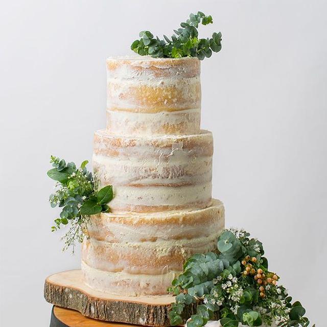 wedding cake designs: naked cake