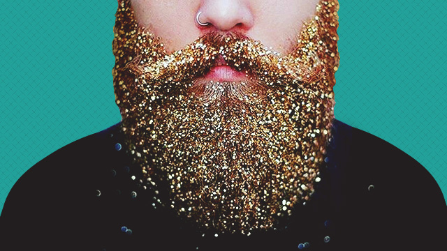 Guys Are Covering Their Beards With Glitter For The Holiday Season