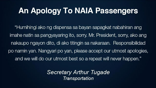 Transport Secretary Apologizes To NAIA Passengers Over Runway Closure