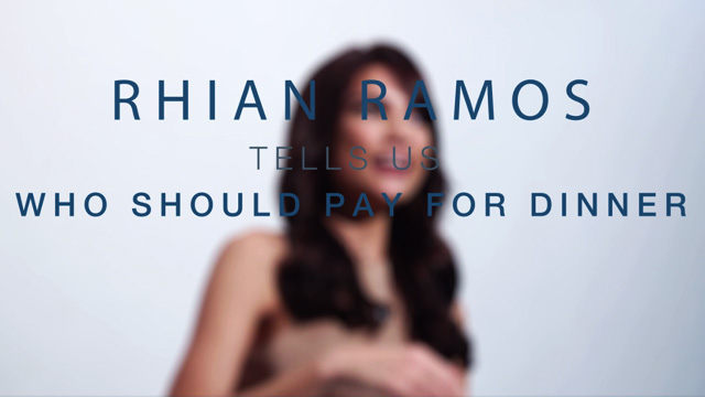 #RealTalk By Rhian Ramos: Men Should Always Pay On The First Date