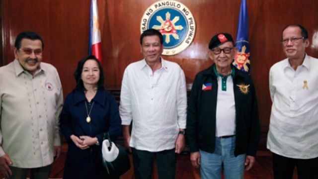 Duterte Invites FVR, Erap, Gloria, And Noynoy To National Security Council Meeting At Palace
