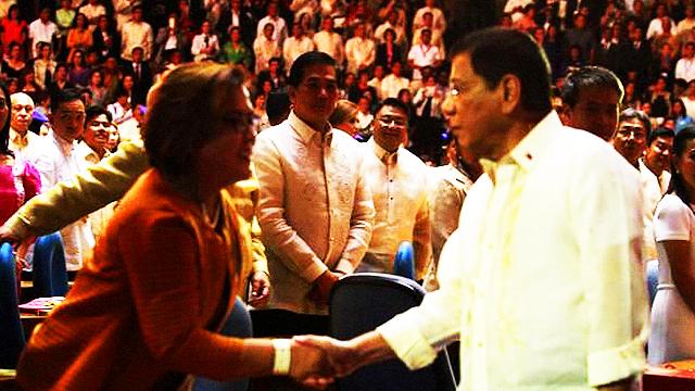 De Lima Takes Duterte's Handshake 'Positively'