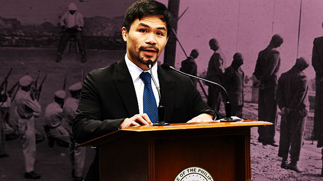 Pacquiao On Death Penalty: Firing Squad Or Hanging