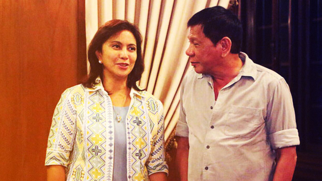 Duterte Can't Take His Eyes Off Leni