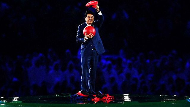 Japan PM Emerges From 'Super Mario' Warp Pipe At Rio Closing Ceremony