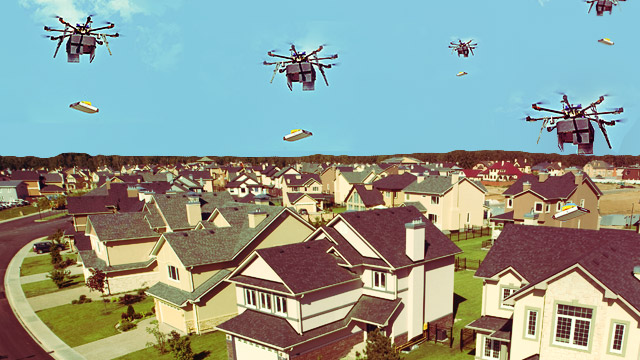 This Pizza Chain Uses Drones Instead Of People For Their Deliveries
