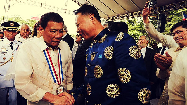 Duterte Tells Chinese Envoy: I Want Peace, Not War
