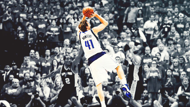 Dirk Nowitzki Is The Master Of The Fadeaway Jumper