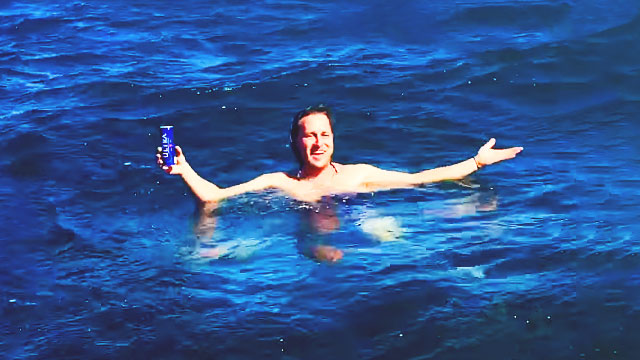 Man Drinking Beer In The Middle Of The Sea Could Be Inventor Of The Year
