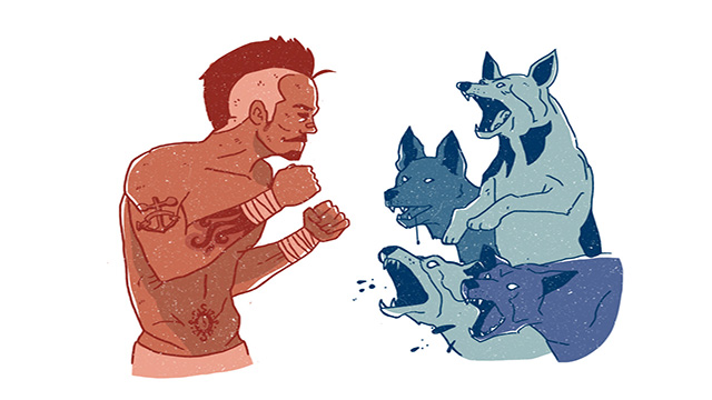 Would You Rather Be Attacked By Conor McGregor Or Four Police Dogs?