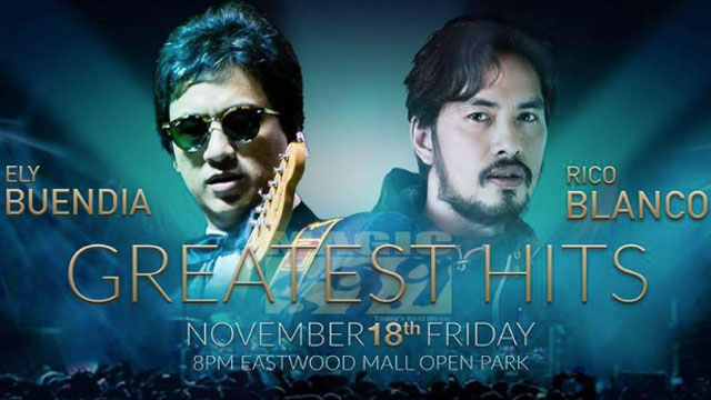 Ely Buendia & Rico Blanco In One Stage + 4 Events This Weekend