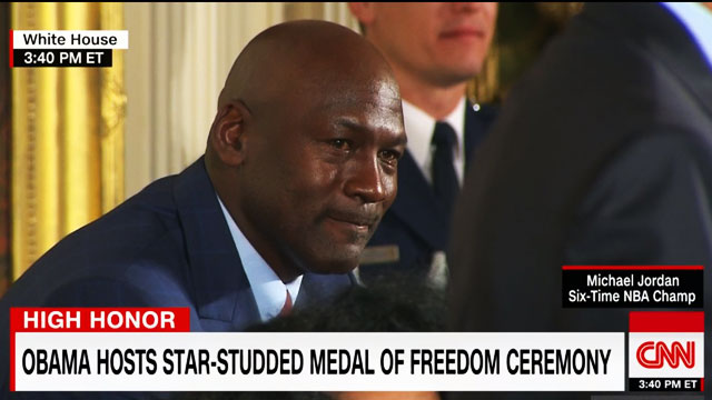 Crying Jordan Makes An Appearance At Medal Of Freedom Awards