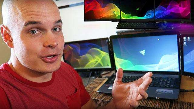 WATCH: Guy Builds Own Version Of Razer's Triple-Screen Laptop