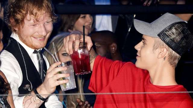 Ed Sheeran Admits Assaulting Justin Bieber's Face With A Golf Club