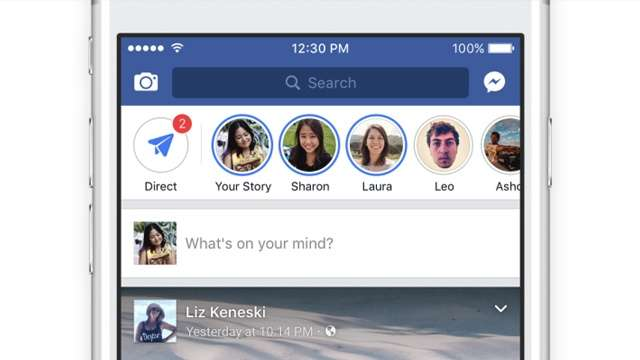 Facebook Rolls Out 'FB Stories' To Main App