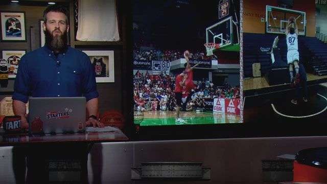 Jammer Jamito's Hilarious Euro-Step Dunk Amuses 'The Starters'