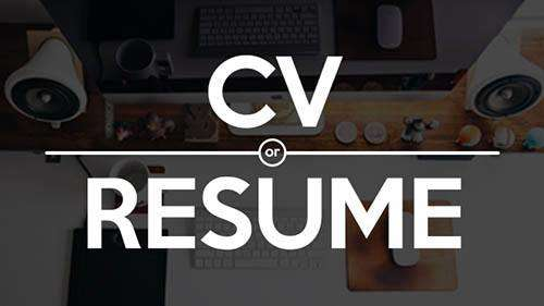 resume vs cv difference