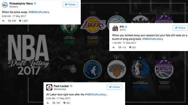 Social Media Blows Up After Ping-Pong Balls Fall At NBA Draft Lottery