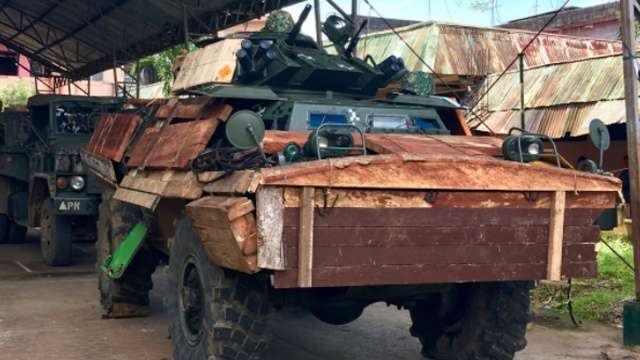 Can This Wooden Tank Armor Actually Protect Troops In Marawi?