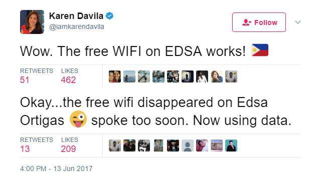 The Most Hilarious Social Media Reactions To EDSA's Free Wi-Fi