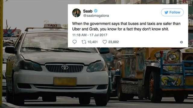 The Internet Wasn't Having Any Of LTFRB's Uber/Grab Regulation