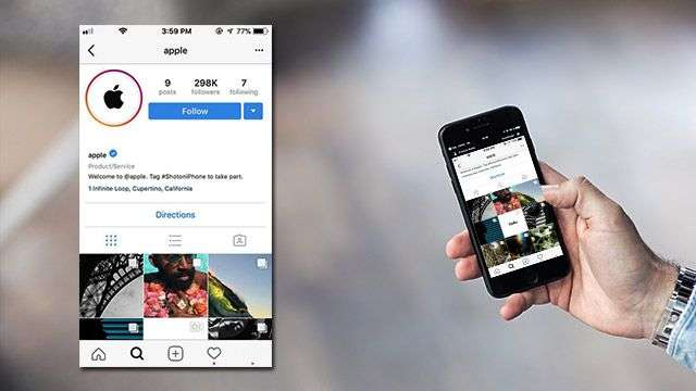 New Apple Instagram Account Features iPhone Photos