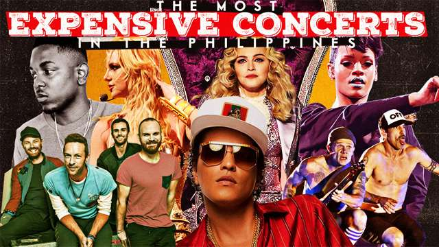 The Most Expensive Concerts Mounted In The Philippines