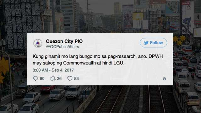 QC Twitter Account Bashes Netizen With Nasty Reply