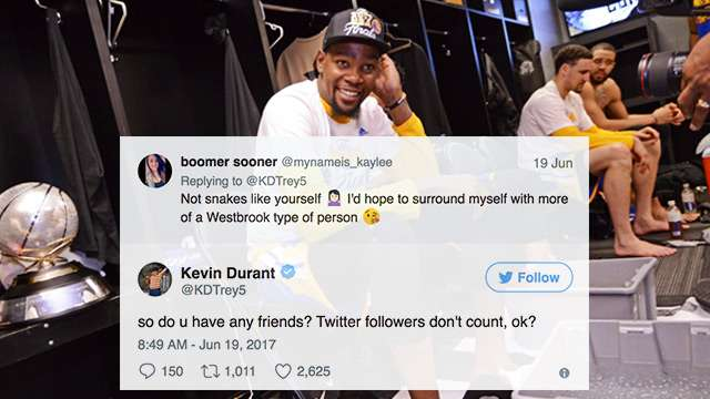 10 Times Kevin Durant Was Savage AF On Twitter