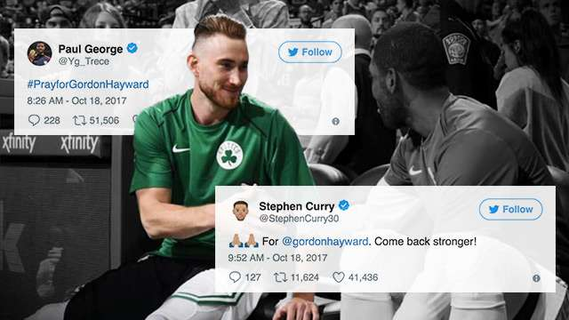 NBA Stars And Fans Shower Gordon Hayward With Support After Horrific Injury