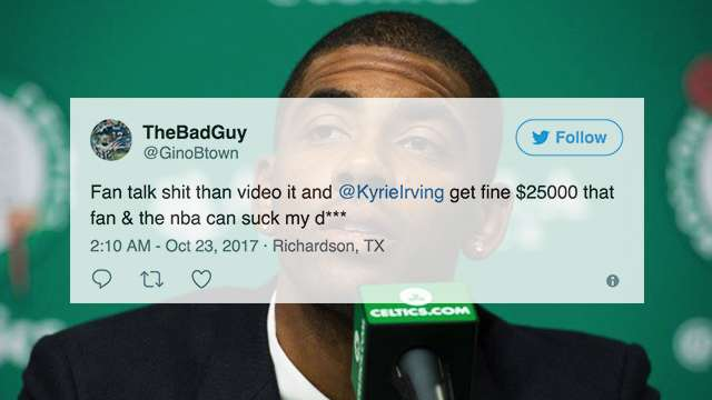 Fans Have Mixed Reactions To Kyrie's Savage Clap Back Against Heckler