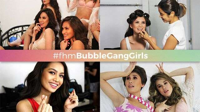 Behind-The-Scenes At The 'Bubble Gang' Girls' November 2017 Cover Shoot