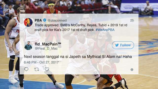 Netizens In Disbelief After The Kia-SMB Trade Was Approved