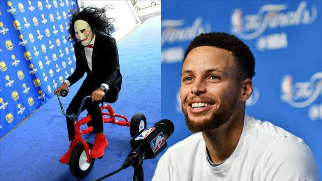 Curry As Jigsaw And Other NBA Stars Get Into The Halloween Spirit
