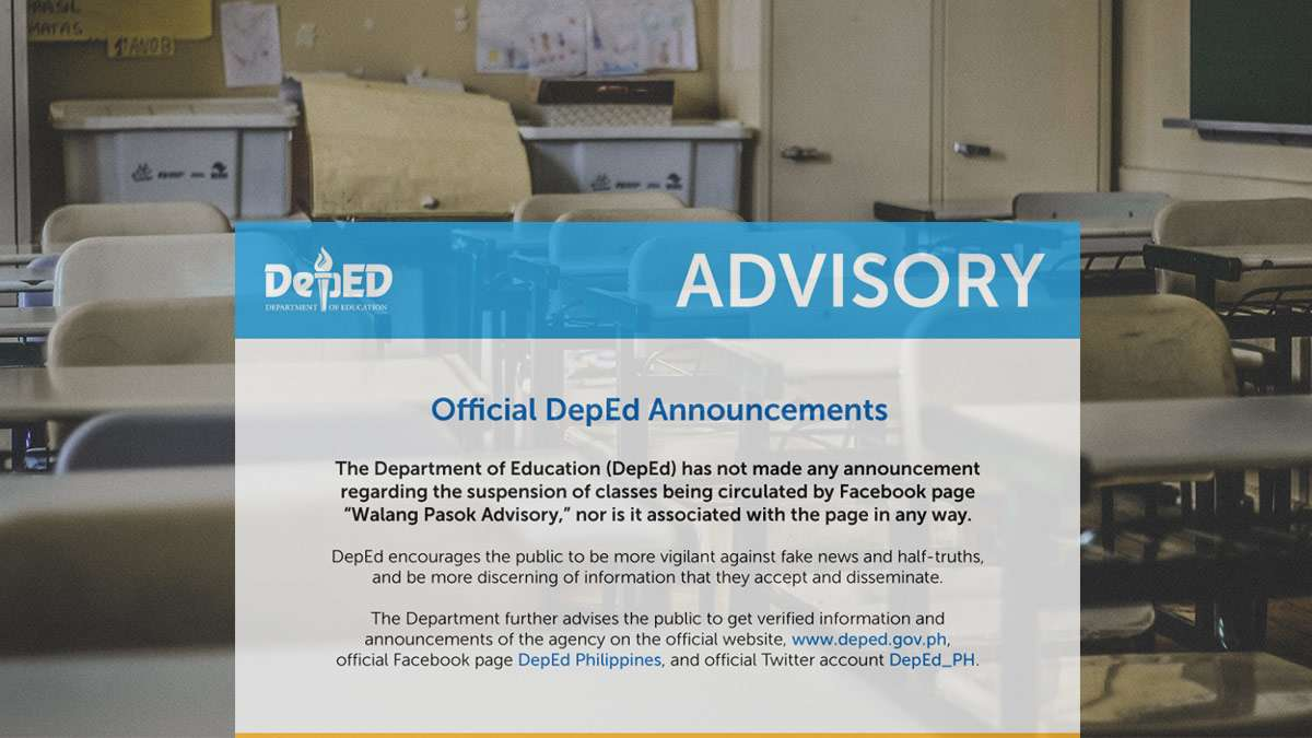 Bad News: Turns Out, The Latest 'Walang Pasok' Dates Are Fake