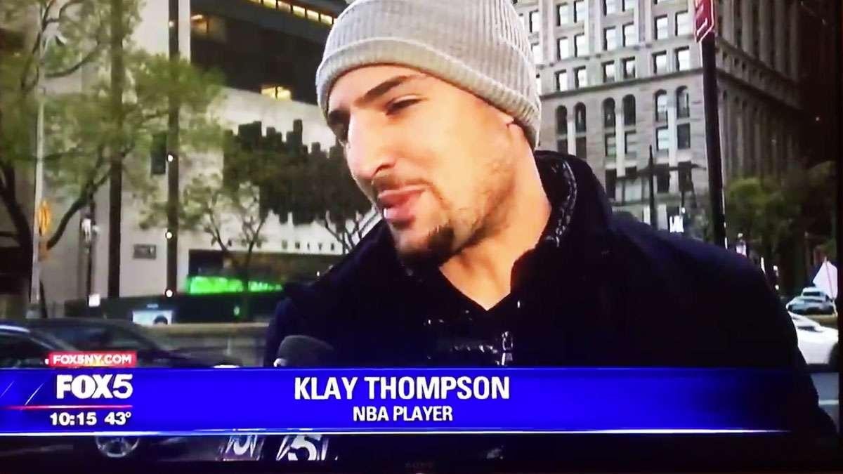 There's Nothing More Random Than Klay Thompson Being Asked About Scaffolding