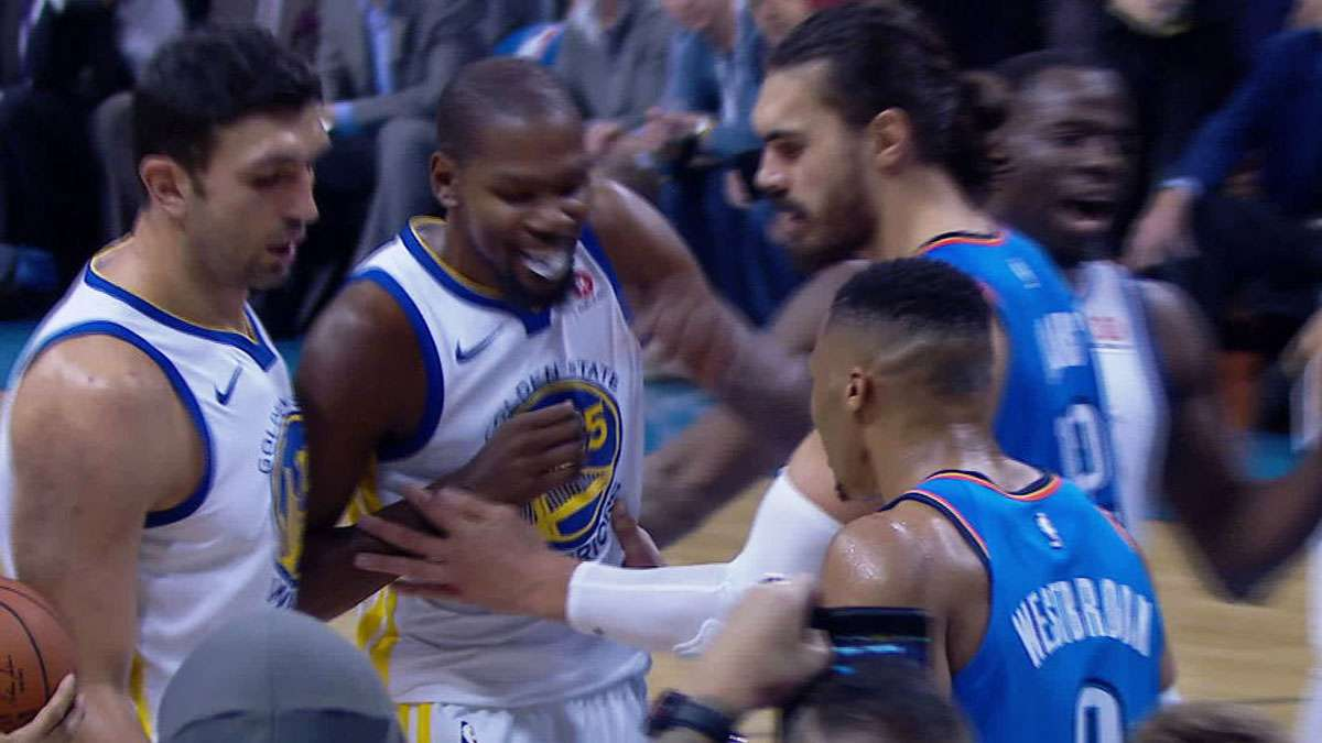 Westbrook, Durant Jaw Away At Each Other (And The Internet Is Loving It)