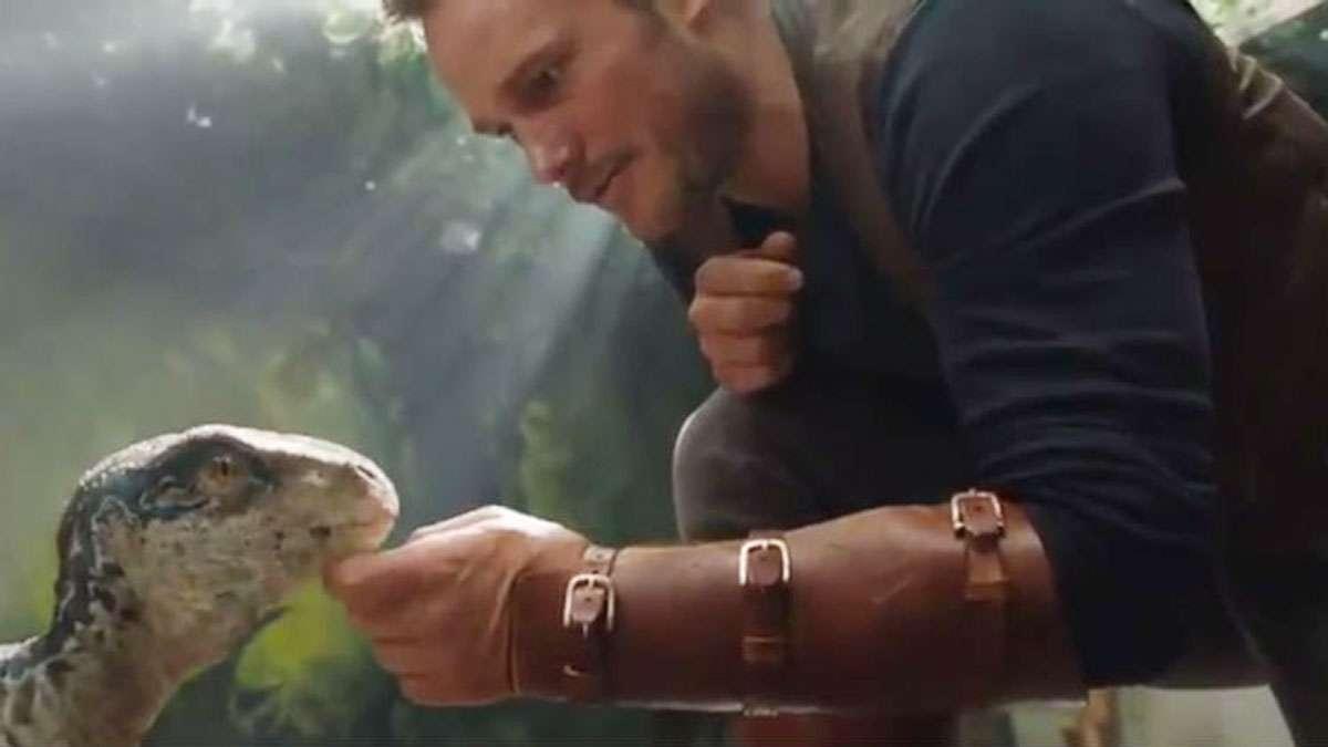 Chris Pratt Shows Baby Raptor Some Love In 'Fallen Kingdom' Teaser