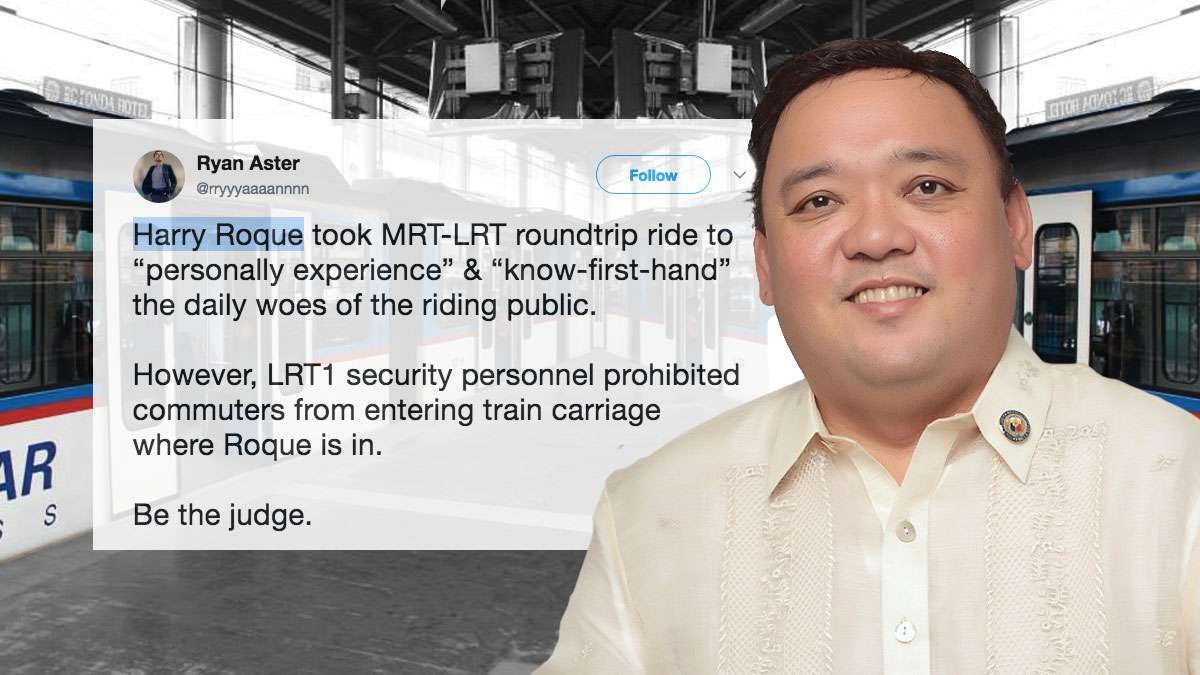 The Most Savage Reactions To Pres. Spox Harry Roque Riding The MRT