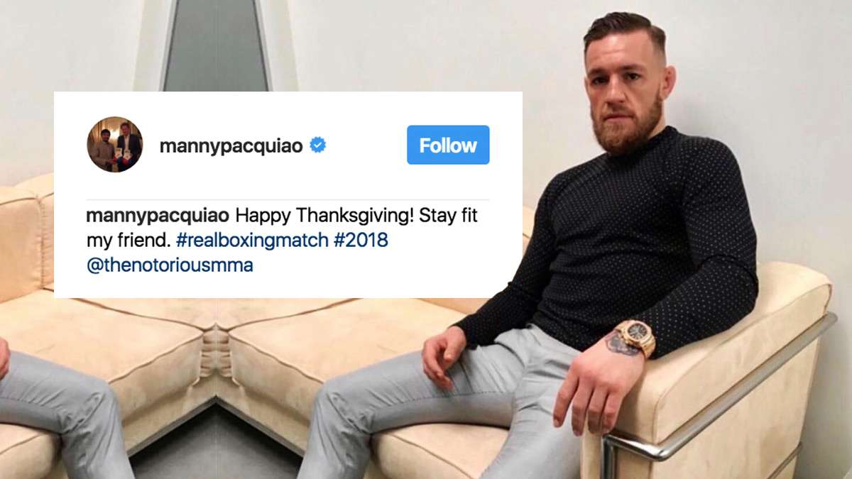 Manny's Instagram Shout-Out Teases Pacquiao-McGregor 2018 Megabout