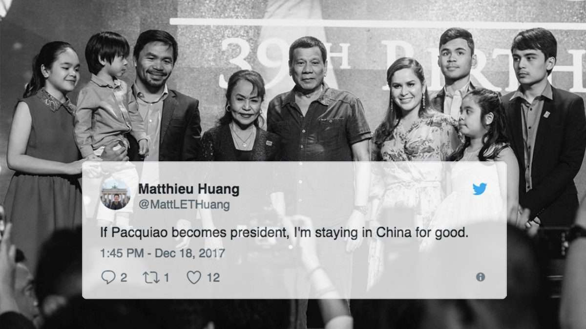 The Most Vicious Reactions To Duterte Endorsing Pacquiao For President